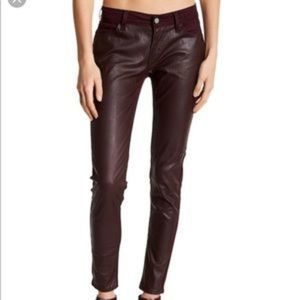 Levi's 535 Burgundy Faux Leather Skinny Jeans 28